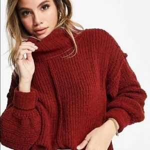 Free People Be Yours Chunky Cozy Cowl Neck Sweater